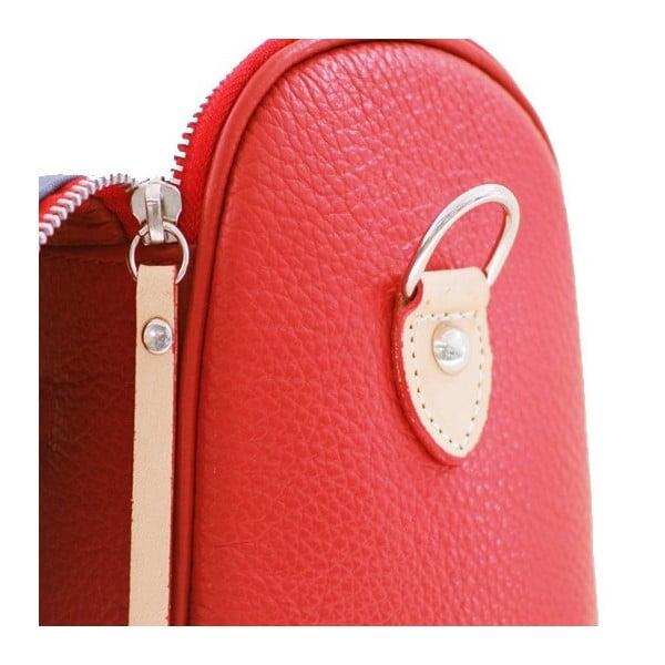 Kožená kabelka Dolce Diana Rosso