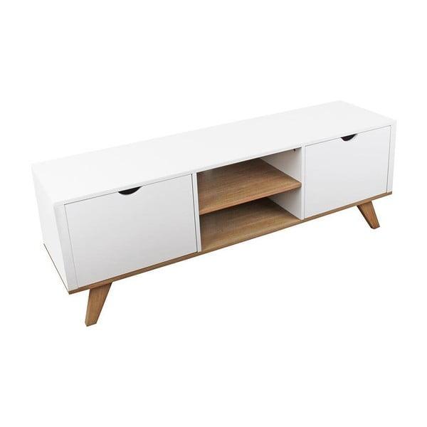 Televizní stolek White Natural
