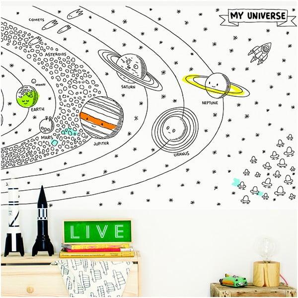 Obří omalovánka Universe, 39x78 cm