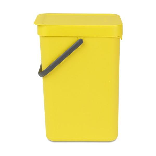 Koš Sort & Go 12 l, žlutý