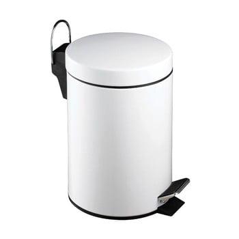 Coș de gunoi cu pedală Premier Housewares, 3 l, alb