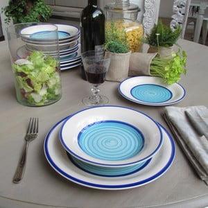 Jídelní sada White&Blue, 24 ks