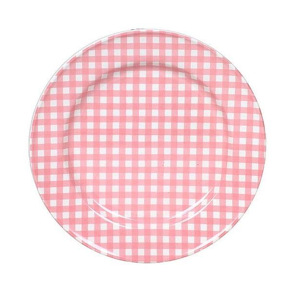 Keramický talíř Marikere Pink, 17 cm