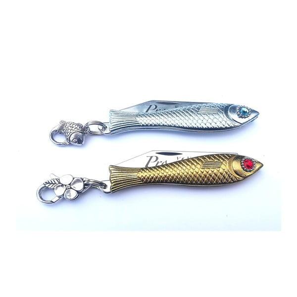 Sada 2 českých nožíků rybiček Pro Štěstí! v designu od Alexandry Dětinské