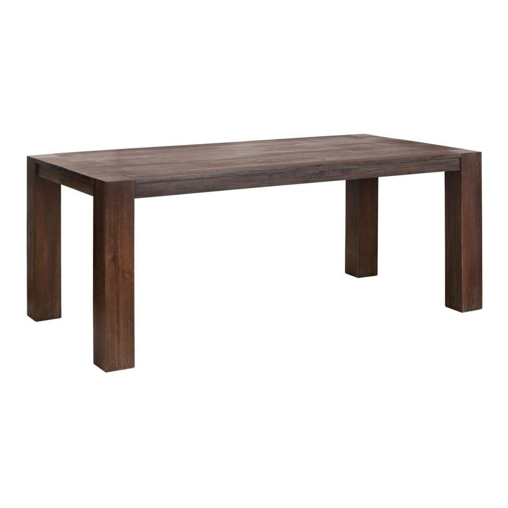 Hnědý jídelní stůl z akáciového dřeva Støraa Aisha, 90x160cm