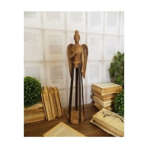 Dekorace z mangového dřeva Orchidea Milano Angel Mango Wood, výška 58 cm