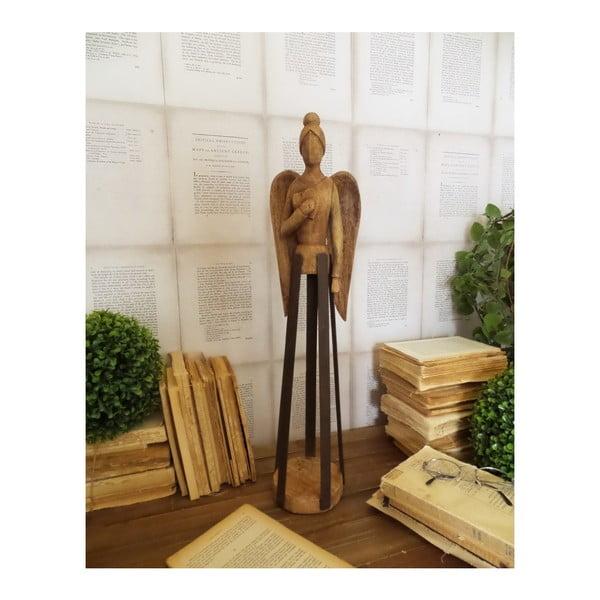 Dekoracja z drewna mango Orchidea Milano Angel Mango Wood, wys. 58 cm