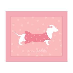 Růžový dětský koberec Pooch Mrs Pooch, 90x110cm
