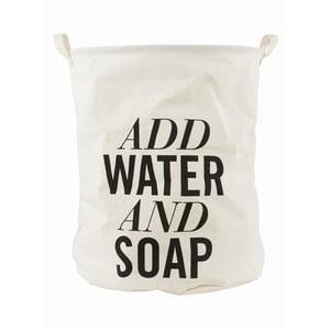 Plátěný koš na prádlo House Doctor Add Water and Soap