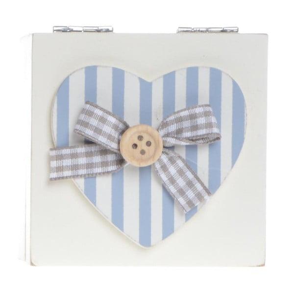 Dřevěný box Heart and Stripes