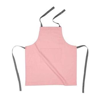 Șorț de bucătărie din bumbac Tiseco Home Studio, roz deschis de la Tiseco Home Studio