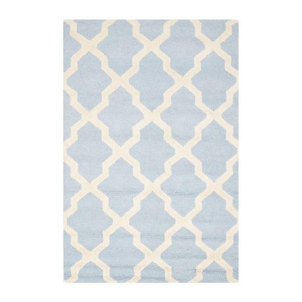 Vlněný koberec Ava Baby Blue, 121x182 cm
