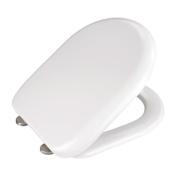Bílé WC sedátko se snadným zavíráním Wenko Santana, 44 x 37 cm