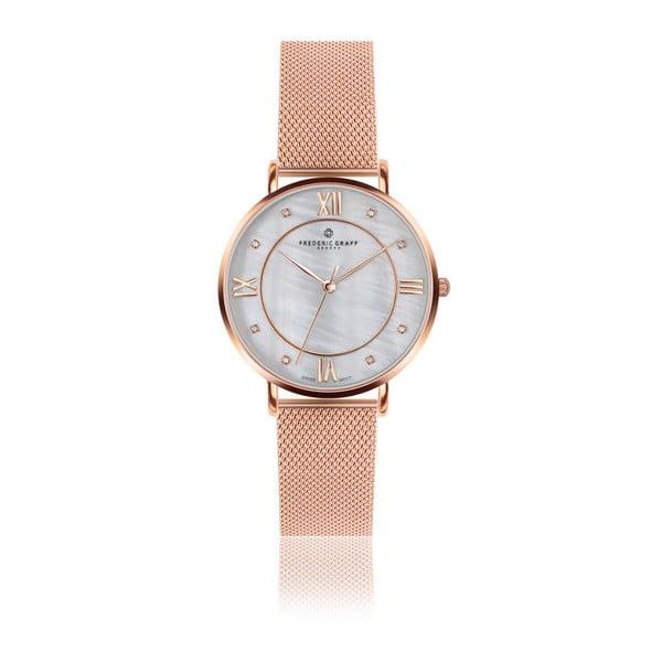 Dámske hodinky s remienkom z antikoro ocele v ružovozlatej farbe Frederic Graff Rose Liskamm
