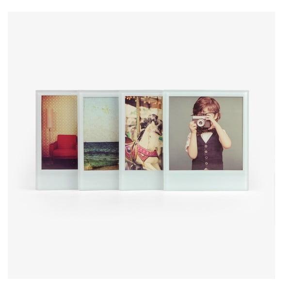 Skleněné podtácky ve formě rámečků na fotografie Just Mustard Coaster