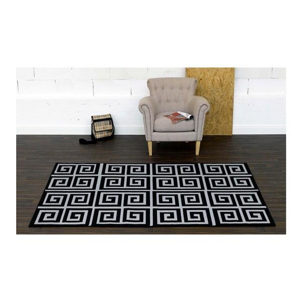 Černý koberec Eden, 160x225 cm