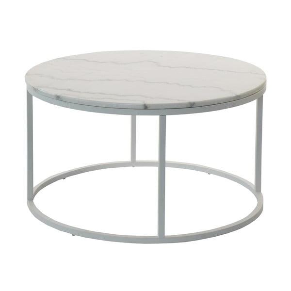 Mramorový odkládací stolek s šedou konstrukcí RGE Accent, ⌀85cm