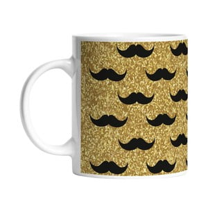 Cană Black Shake Set of Moustaches, 330 ml