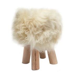 Taburet cu blană Sheepo, alb