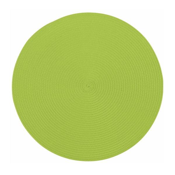 Zielona okrągła mata stołowa Tiseco Home Studio Round, ø 38 cm
