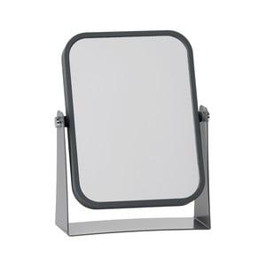 Kosmetické stolní zrcadlo s šedým rámem Zone