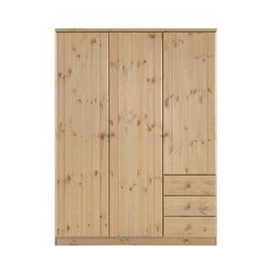 Světle hnědá šatní skříň z borovicového dřeva Steens Ribe, 202 x 150,5 cm