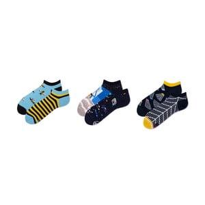 Sada 3 párů kotníkových ponožek v dárkovém balení Many Mornings Space, vel. 35-38