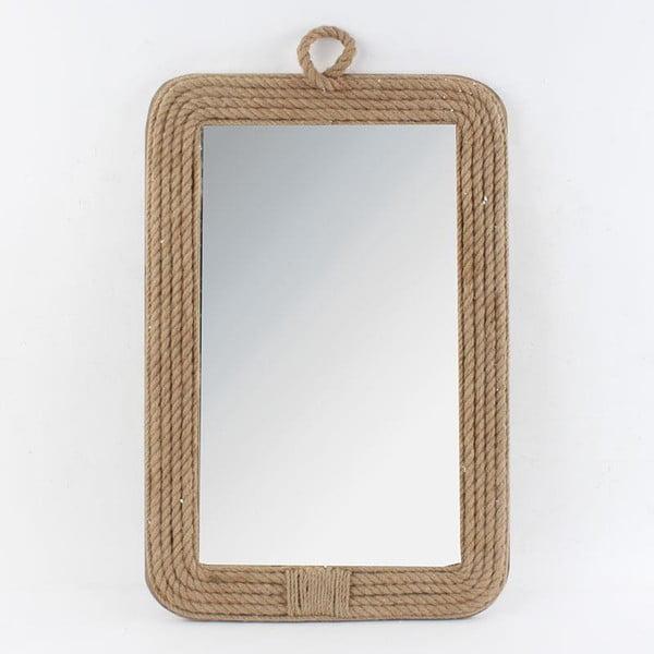 Dřevěné zrcadlo, 40x3x60 cm