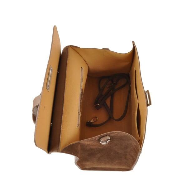 Kožená kabelka Pau, hnědá