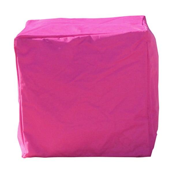 Różowy wododporny puf odpowiedni na zewnątrz Sunvibes Cube