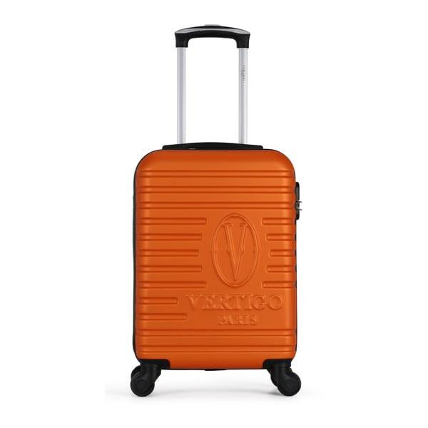 Oranžový cestovní kufr na kolečkách VERTIGO Valises Cabine Cadenas