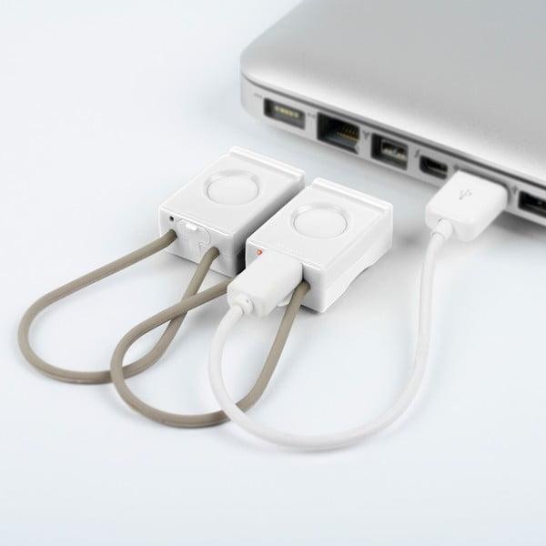 Bílá USB blikačka Bookman