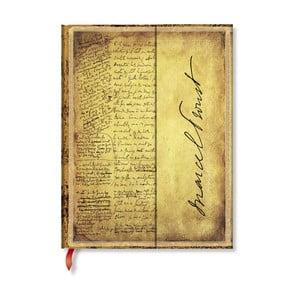 Caiet cu copertă tare Paperblanks Proust, 18 x 23 cm