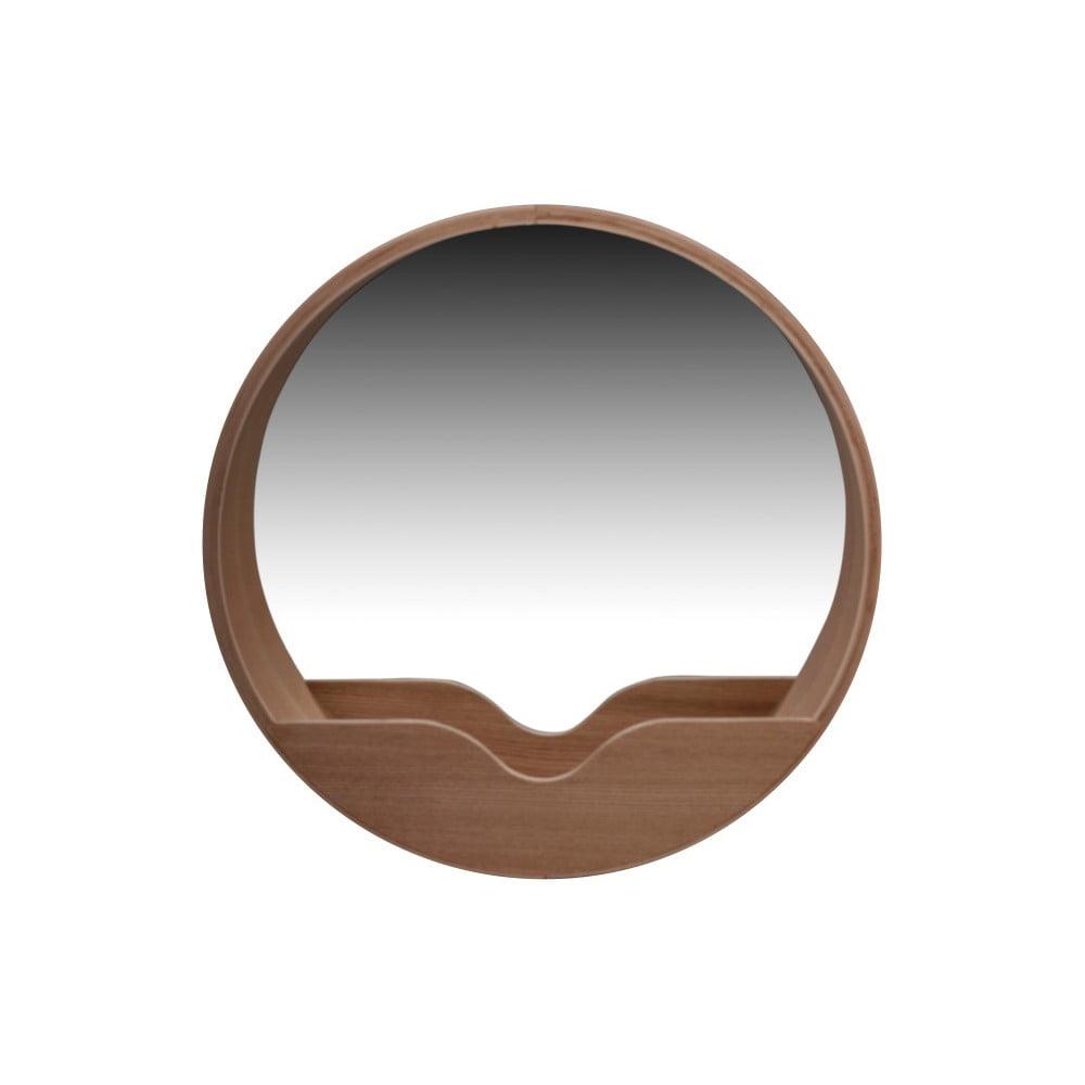 Nástěnné zrcadlo s odkládacím prostorem Zuiver Round Wall, ⌀ 60 cm