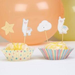 Sada 20 papírových košíčků na dortíky Neviti Llama Love