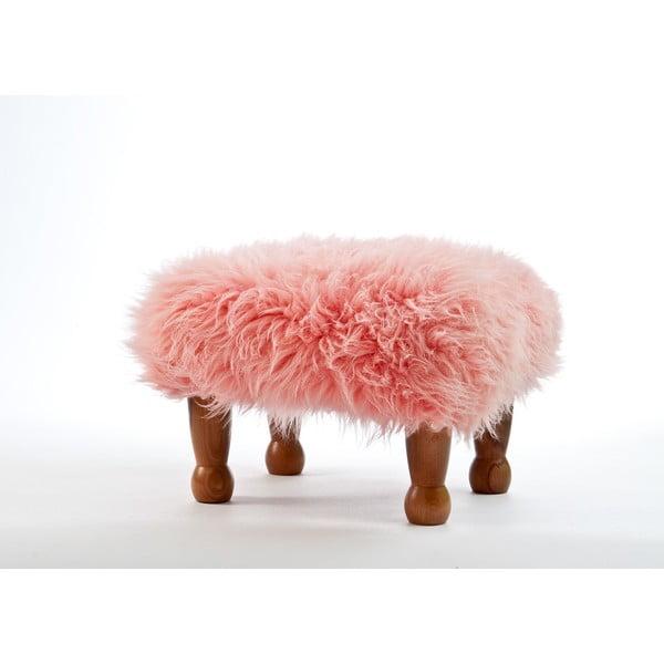 Stolička z ovčí kůže Anwen Pink