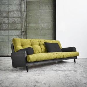 Canapea extensibilă Karup Indie Black/Avocado Green/Dark Grey