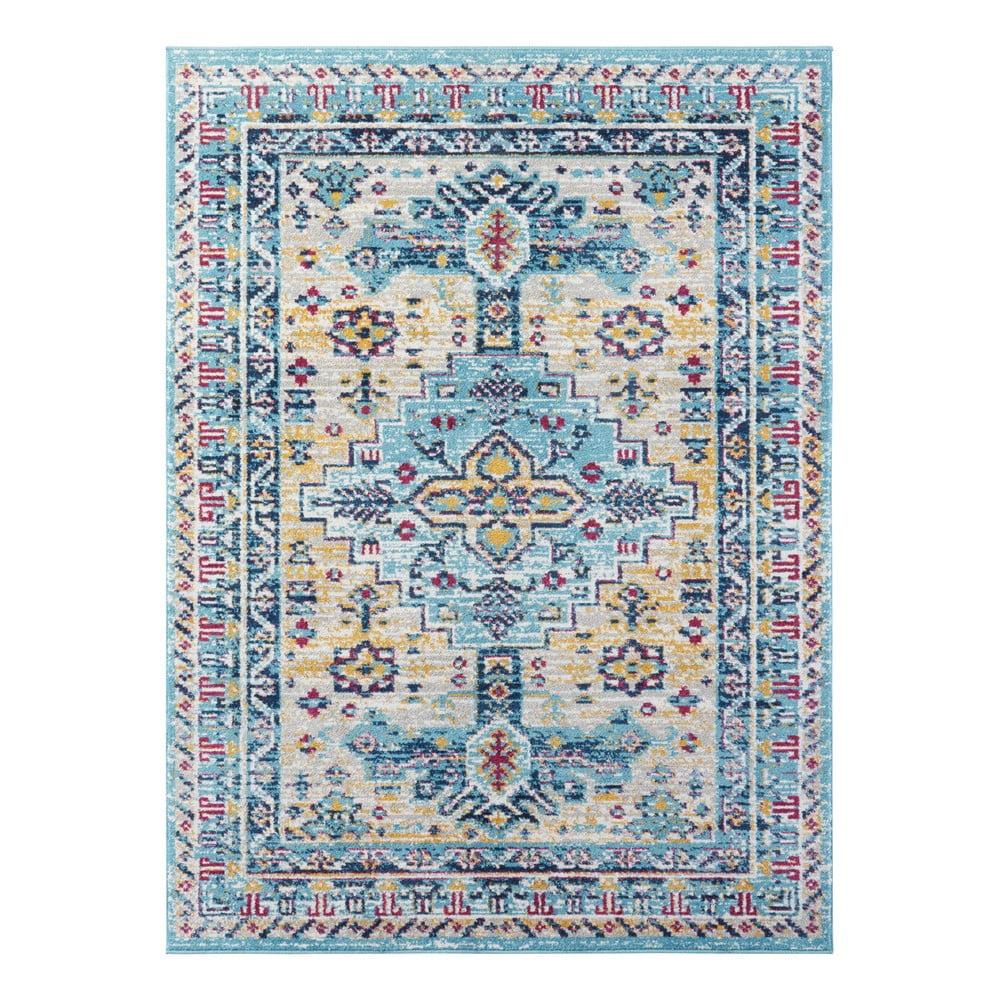 Světle modrý koberec Nouristan Agha, 200 x 290 cm