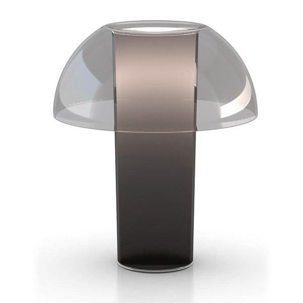 Stolní lampa Colette L003TB, transparentní kouřová