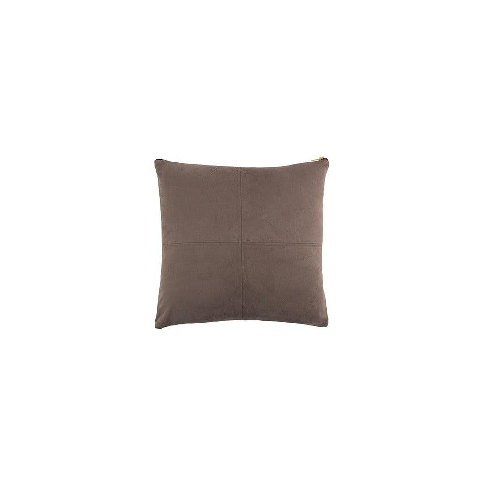 Šedý polštář White Label Mace, 45 x 45 cm
