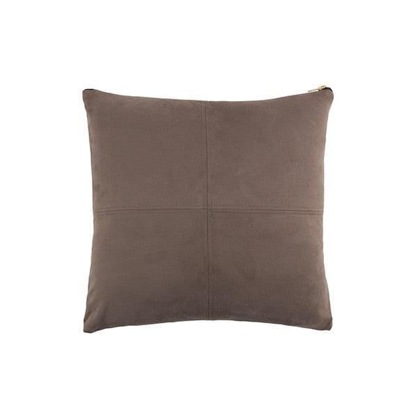 Šedý polštář White Label Mace, 45x45cm