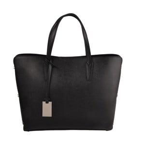 Černá kožená kabelka Matilde Costa Dries