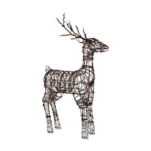 Decorațiune cu LED Best Season Deer Rattan, 90 cm