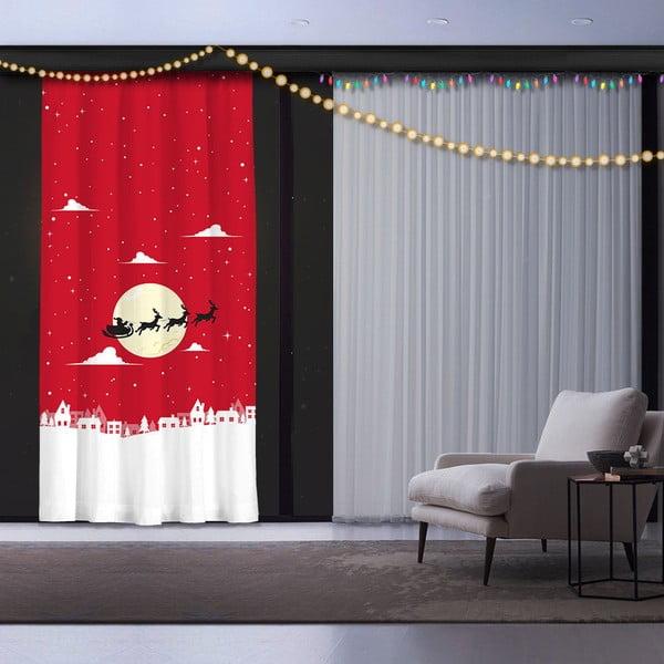 Christmas Time karácsonyi függöny, 140 x 260 cm