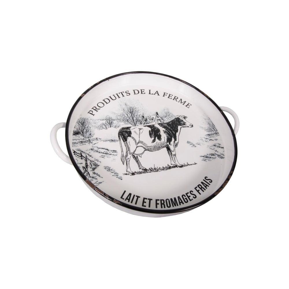 Bílý talíř na sýry Antic Line
