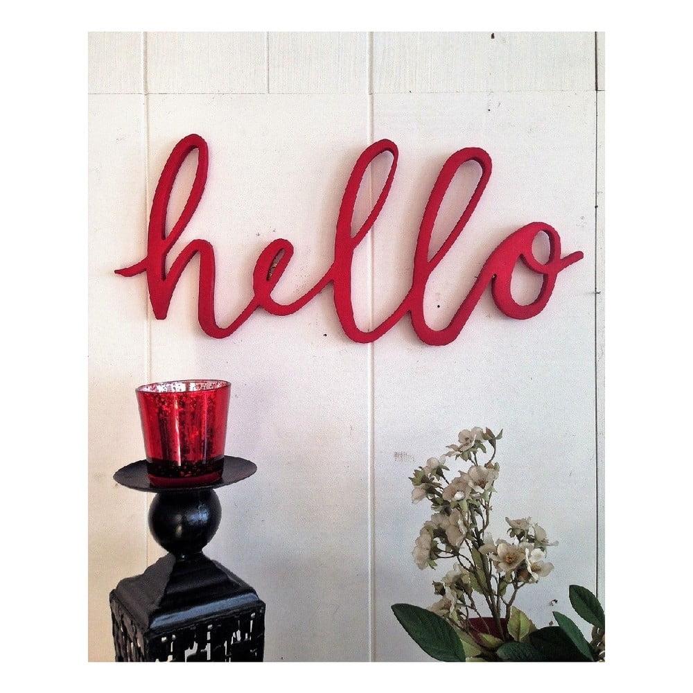 Červená nástěnná dekorace Hello Bonami