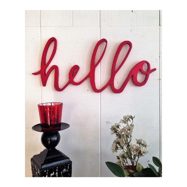 Czerwona dekoracja ścienna Hello