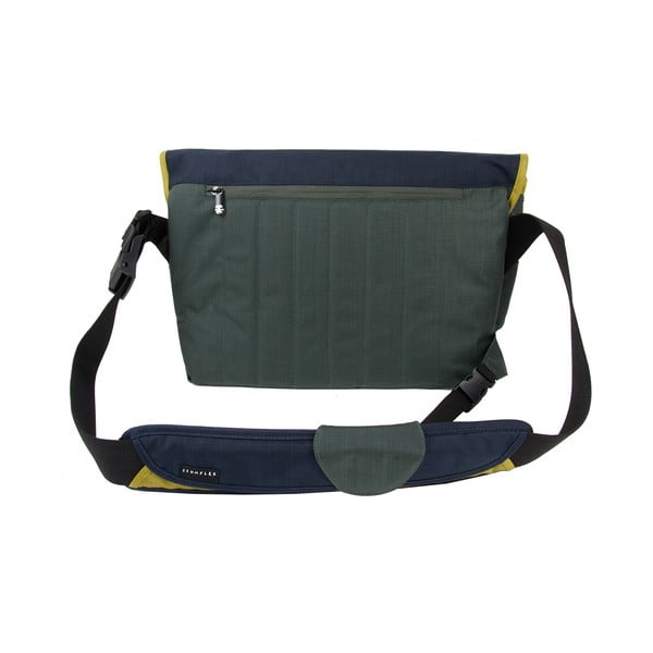 Brašna na laptop Dinky Di Laptop Messenger L, dk. navy/dk. lime