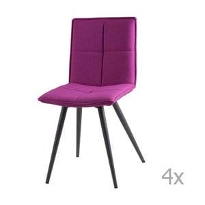 Sada 4 růžových jídelních židlí sømcasa Zoe