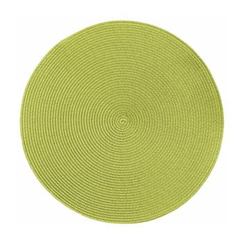 Suport rotund pentru farfurie Tiseco Home Studio Round Chambray, ø38cm, verde imagine
